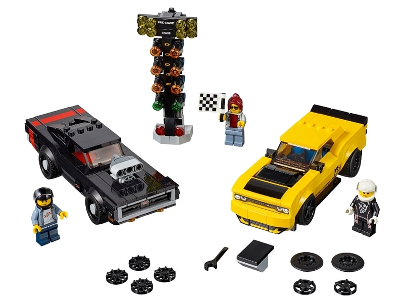 LEGO® 2018 Dodge Challenger SRT Demon and 1970 Dodge Charger R/T